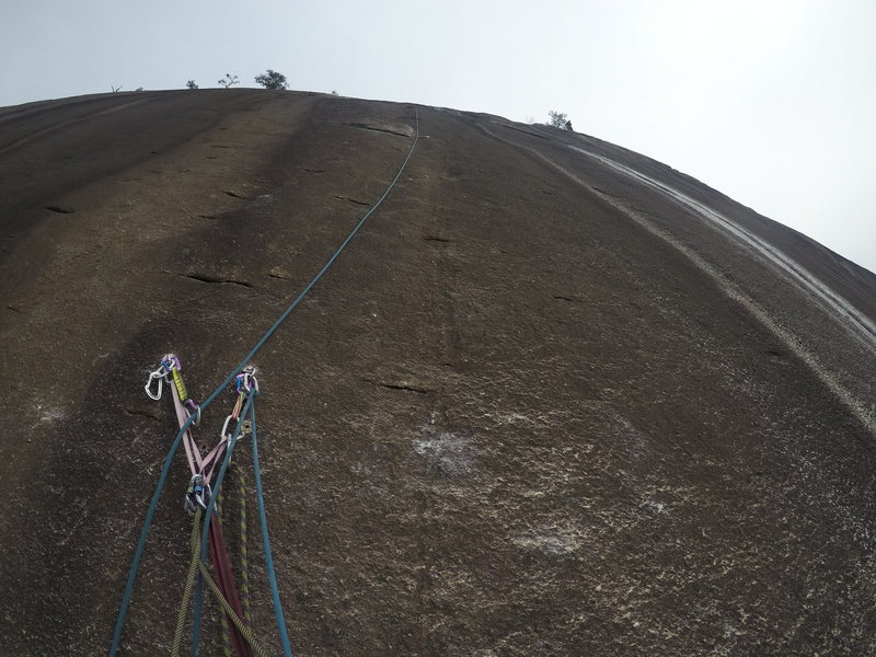 Rock Climbing Photo: looking up from the pitch 1 anchors