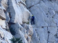 Rock Climbing Photo: Climbing one of the side walls to get around the c...