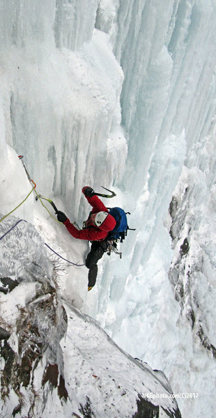 Rock Climbing Photo: took this shot of my partner comming into belay su...