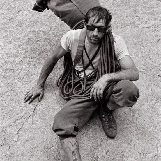 Royal Robbins after FA of Tis-sa-ack, Half Dome. The Master of Less is More.
