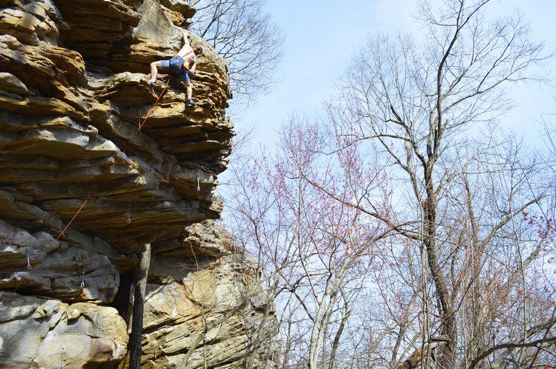 Rock Climbing Photo: Chad up top!