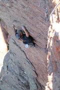 Rock Climbing Photo: Erick Santos following on the crux