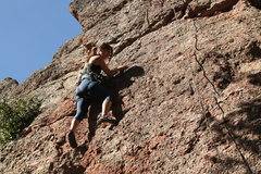 Rock Climbing Photo: Jessica Lam climbing on top tope