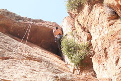 Rock Climbing Photo: Erick on the Crux move