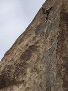 Rock Climbing Photo: chalking up to finish cryptic
