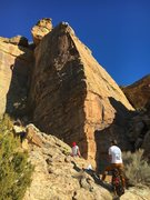 Rock Climbing Photo: Stephen on Ego Terrorists with Alec on Belay. Shau...