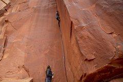 Rock Climbing Photo: Doug leading up Unknown 10+ (aka Your Mama apparen...