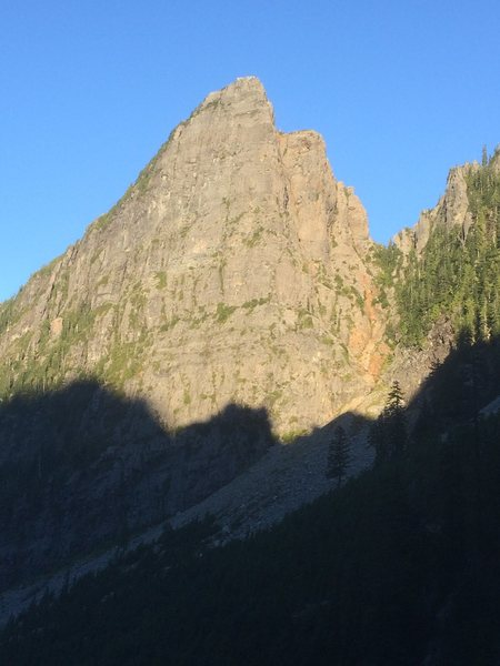 Afternoon sun on the buttress