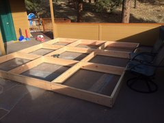 Rock Climbing Photo: New 12' x 12' wall I am building