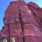 Rock Climbing Photo: First two pitches of Dr Rubos