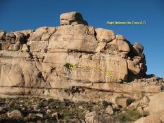 Rock Climbing Photo: Right Between the Eyes (5.7), Joshua Tree NP