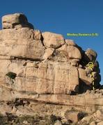 Rock Climbing Photo: Monkey Business (5.8), Joshua Tree NP