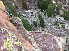 Rock Climbing Photo: Taken from the belay on South Crack.