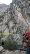 Rock Climbing Photo: Entre Salma y Toño (graffiti) and Unknown