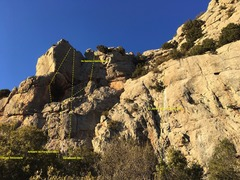 Rock Climbing Photo: Leftern side of Coll Pique.  Many many more routes...