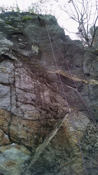 Rock Climbing Photo: awesome climb....kind of technical moves and the t...