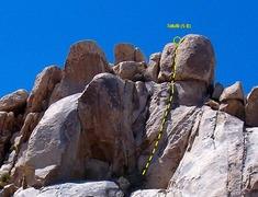 Rock Climbing Photo: Tofutti (5.8), Joshua Tree NP