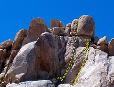 Rock Climbing Photo: Dairy Queen Wall - Left Side  A. Tofutti (5.8) B. ...