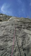 Rock Climbing Photo: KLS at the top of the 2nd pitch