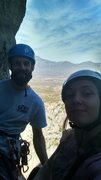 Rock Climbing Photo: KLS and I at the top of the third pitch. 4th pitch...