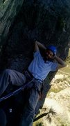"""Rock Climbing Photo: Me at the top of """"Will the Wolf Survive""""..."""