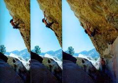 Rock Climbing Photo: Barefooting Black Listed 11b