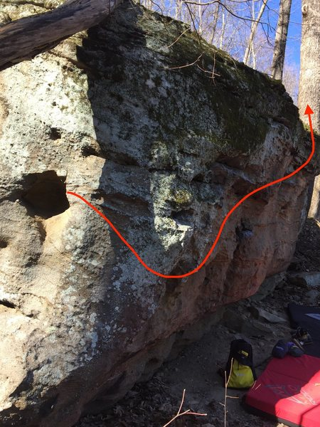 This is the start to the traverse project, look to the other picture for more clarity on the traverse section.