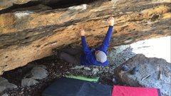 Rock Climbing Photo: Prepare for the big move to the rail