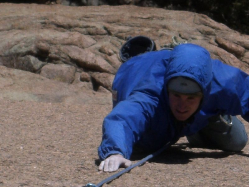 Rock Climbing Photo: David Russell on FA of Sunkist .12 c/d