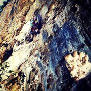 Rock Climbing Photo: Mac McCaleb enjoying Siga Que la Rumba at Caliche....