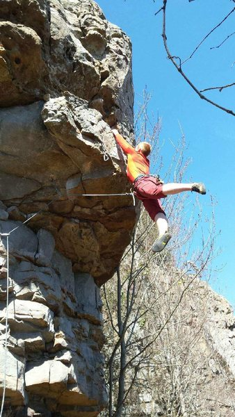 Terrible footwork getting over the crux.