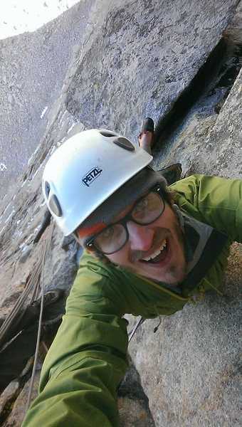 Rock Climbing Photo: Psyched on Sykes Sickle.