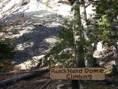 Rock Climbing Photo: Ranch Hand signage. The start of Biscuits 'n&#...
