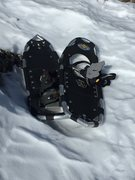 abandoned snowshoes