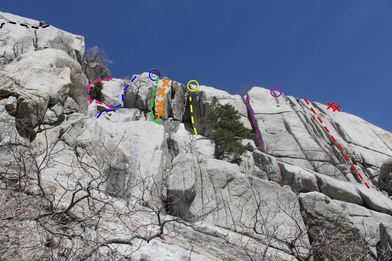 Rock Climbing Photo: Five Fingers Area Black-Callitwhatyouplease Pink-C...