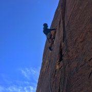 Rock Climbing Photo: Nick heading up pitch 3