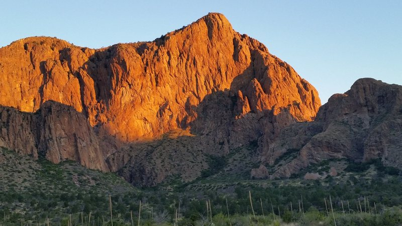 Rock Climbing Photo: Pulliam Bluff from Chisos Road.