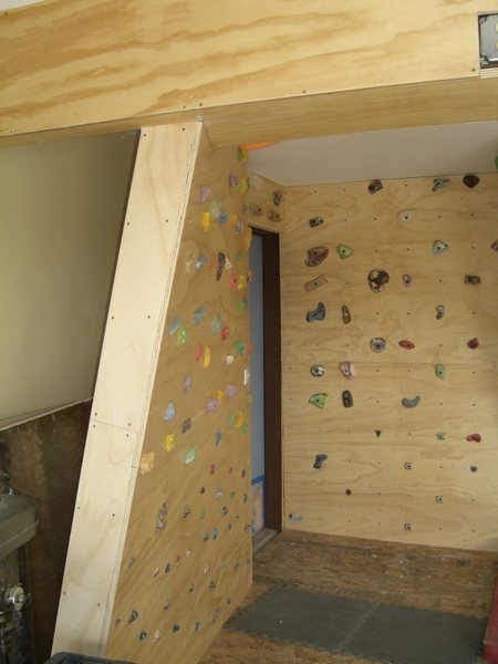 Rock Climbing Photo: Shop Wall #3 - curved wall