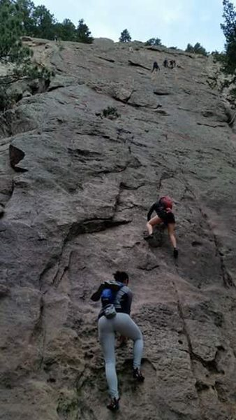 Rock Climbing Photo: 2nd Flatiron Freesolo