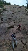 Rock Climbing Photo: 2nd Flatiron Freesolo