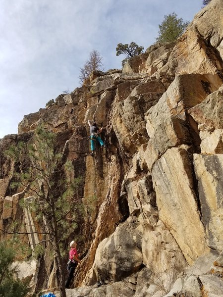 Rock Climbing Photo: Brian D. loving Hard Cider.