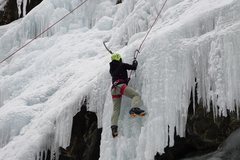 Rock Climbing Photo: first day ice climbing, at the Ouray Ice Park