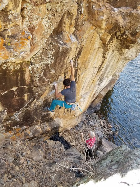 Rock Climbing Photo: Brian D. on the onsight.
