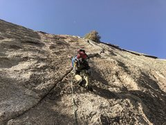 Rock Climbing Photo: Start of pitch 2, protects really well, could prob...