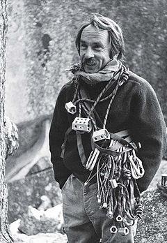Rock Climbing Photo: Ivon Chouinard, 1970's.