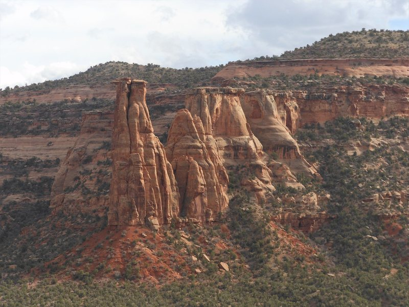 The Kissing Couple as seen from Monument Canyon.  More specifically, from Desert Solitaire.