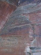 Rock Climbing Photo: First Impressions is the left-arching flake/crack ...