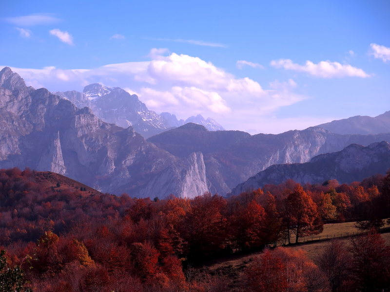 Rock Climbing Photo: fall foliage in Asturias mountains