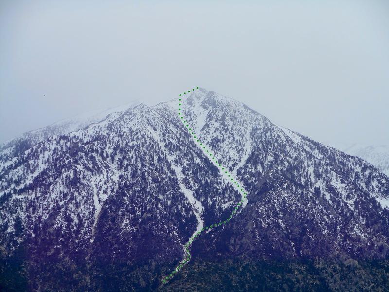 Rock Climbing Photo: East Gully. Photo taken 3/18/17