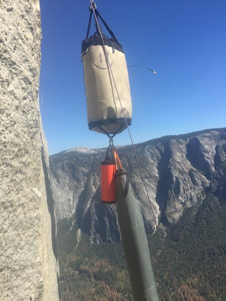 Rock Climbing Photo: Smiling Haul Bag